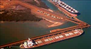 The price of iron ore continued downward in April